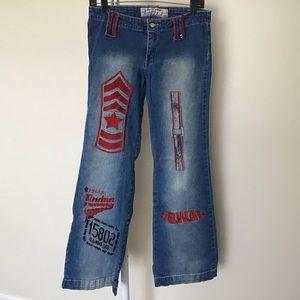 Swayze brazil jeans with logos